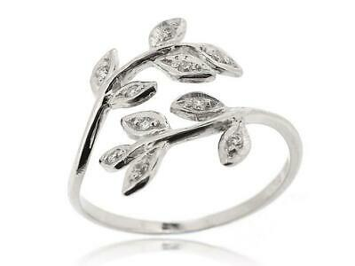Sovats Solid 925 Sterling Silver Leaves Filigree Ring Women Teen Girl Size 5-12