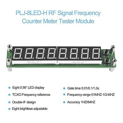 PLJ-8LED-H 8 Digit 0.1~1000MHz RF Signal Frequency Counter Meter Tester LED NK