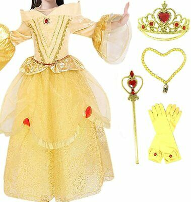 Romy's Collection Exclusive Princess Belle Yellow Party Costume Dress-Up Set