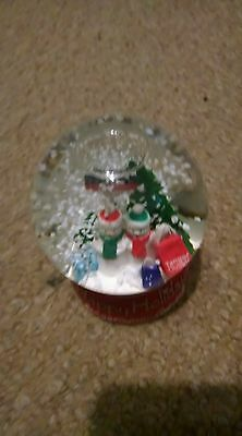 Coke cola christmas snow globe