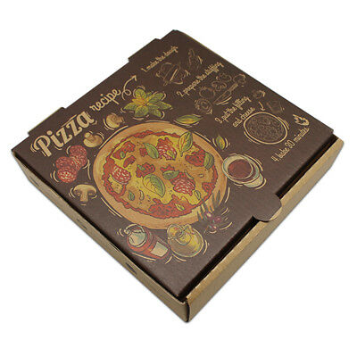 7.1''x7.1''x1.6'' Kraft Paper Boxes for 6'' Pizza Cake Packing Wedding Party Box