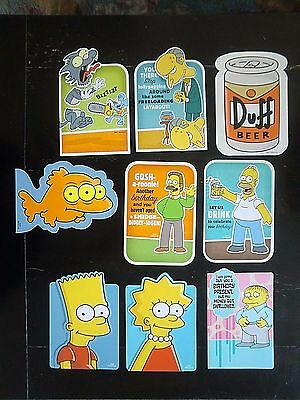Hallmark Birthday Card lot 2008 THE SIMPSONS Rare Spring Series Itchy & Scratchy