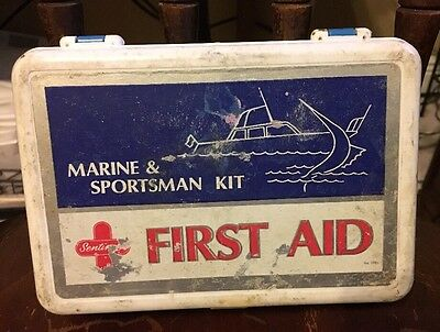 Vintage Sentinel First Aid Kit Marine & Sportsman With Contents Made in USA