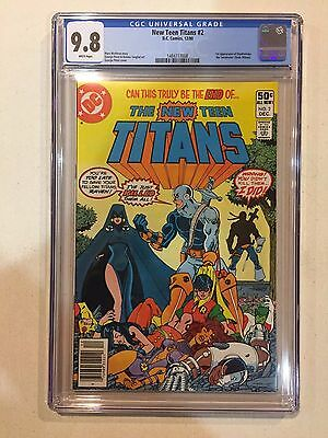 The New Teen Titans #2 CGC 9.8 1st Appearance of Deathstroke the Terminator