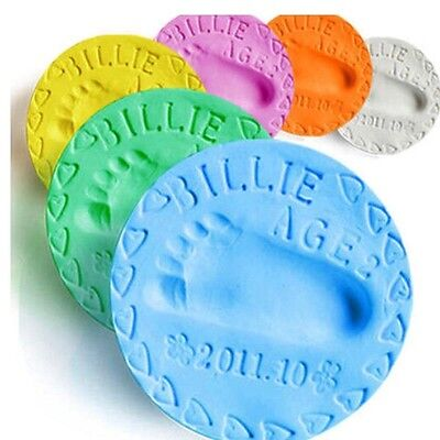6- Colors Baby Care Air Drying Clay. Baby Hand/foot Imprint Casting Kit.