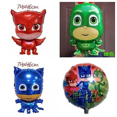 🌈 PJ Masks JUMBO FOIL HELIUM Balloon Party Supplies Decoration. Lolly Loot Bag