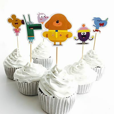 ☀️12x Hey Duggee Cupcake Toppers *HANDMADE*. Party Supplies Lolly Loot Bags