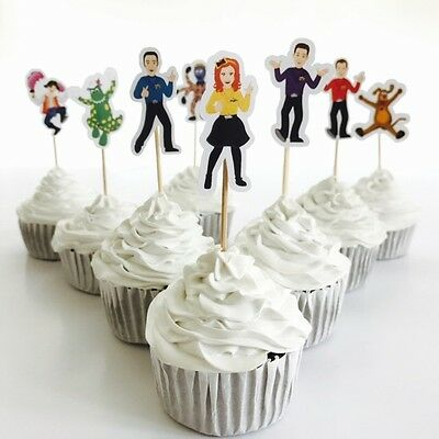 12x The Wiggles Cupcake Topper *HANDMADE* Party Supplies Lolly Loot Bags Deco