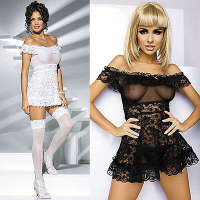 PL Sexy Charming Lingerie See-through Babydoll Underwear + G-string