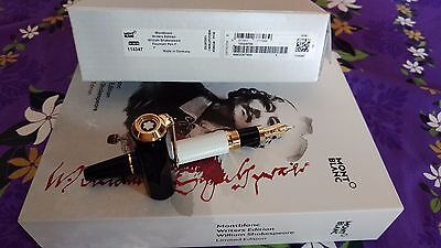 Montblanc Writers Edition 2016 William Shakespeare Fountain Pen NEW+BOXES F Nib