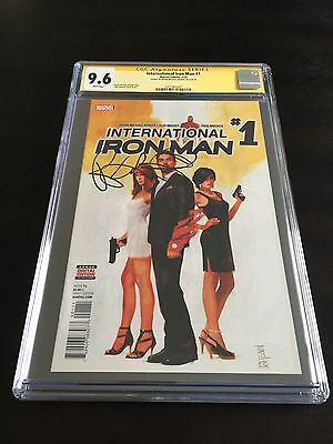 International Iron Man #1 CGC 9.6 Signature Series - Brian Michael Bendis
