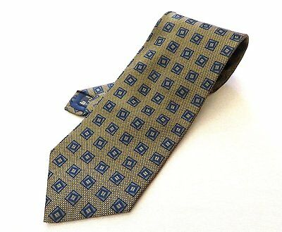 1c18ff8a4ee6 100% Authentic Ermenegildo Zegna 100% Silk Necktie Navy×Yellow Made In Italy
