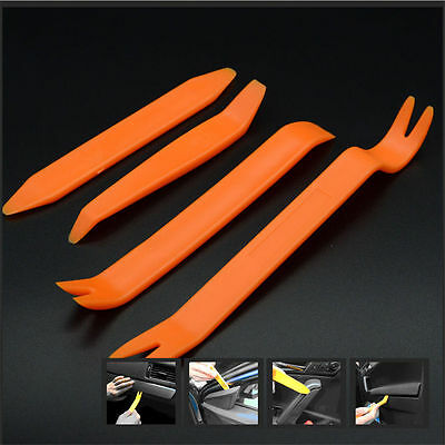 4pcCar Removal Open Tools Door Clip Kit Panel Radio Trim Dash Audio InstallerNEW
