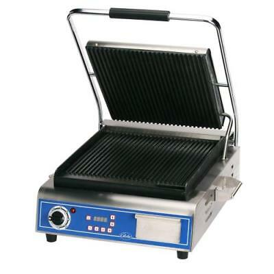 Globe - GPG14D - Single Panini Grill with Grooved Plates