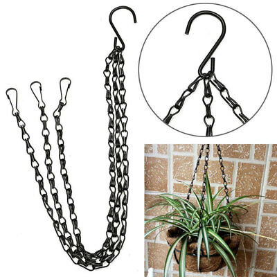40cm Heavy Duty Iron Chain For Plant/Flower Basket Hanging 3 Chains with Hook