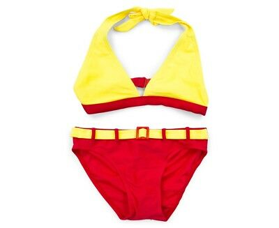 Cupid Girl Halter Bikini Set - Yellow/Red