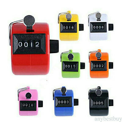 Tally Counter Hand Held Clicker 4 Digit Chrome Palm Golf People Counting Club Y1