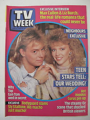 Tv Week June 13, 1987 Kylie Minogue & Jason Donovan Cover Nsw Magazine