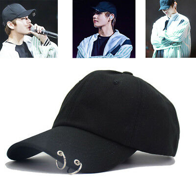 KPOP BTS LIVE THE WINGS TOUR Hat Bangtan Boys Ring Baseball Cap Adjustable Black