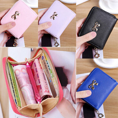 UK Womens Wallet Leather Zip Coin Purse Clutch Handbag Small Mini Card Holder