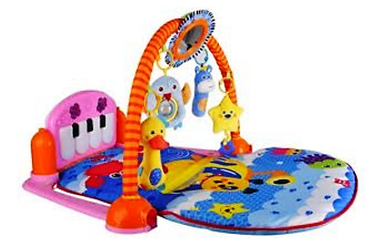 Baby Gym Piano Play Mat Lay Music And Lights Fun Pink or Blue
