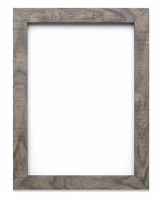 Shabby Chic Rustic Wood Grain Picture Frame Photo Frame Wall Decor  Grey Silver