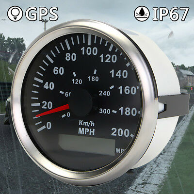 85mm 200MPH 300KMH GPS Digital Speedometer Waterproof For 12V 24V Truck Car New