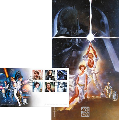 """Great Britain - 2017 """"Star Wars - 40th Anniversary- First Day Cover"""