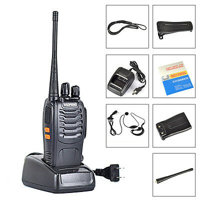 2pcs Baofeng-888S 5W 400-470MHz 16CH Two-way Ham Radio Handheld Walkie Talkie
