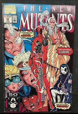The New Mutants #98 (Marvel 1991) 1st Appearance of Deadpool
