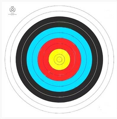 New Archery FITA approved Target Faces 80cm (5x pieces)