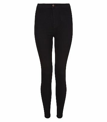 Ladies New Look Hallie High Waisted Super Skinny Jeans Black Size 4-18 Leg 24-30
