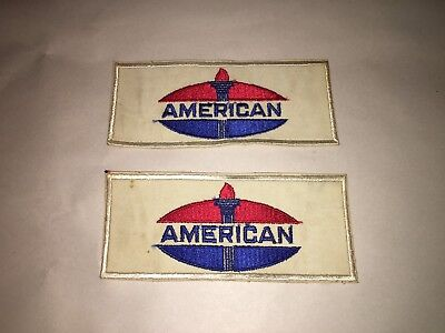 Pair Of American Oil Patch , Gas Station Mechanics Patch Badge Standard Oil