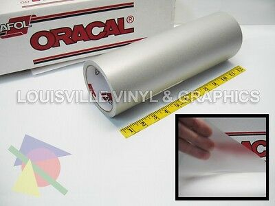 """12"""" Wide - Oracal 8510 Silver - Fine Etched Glass Craft & Hobby Cutting Vinyl"""