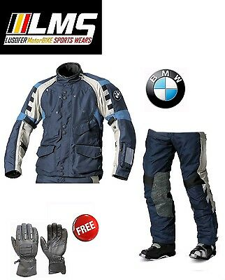 Bmw Rallye Grey/Blue Motorrad 2016 Motorcycle Touring Off Road Suit All Size