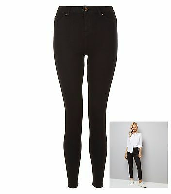 Ladies New Look India Super Skinny Jeans Black Sizes 4 - 20 Leg 24 - 30