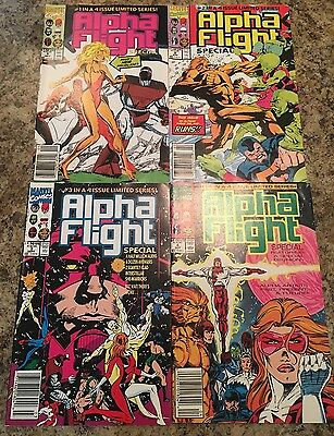 Lot Of 4 Marvel Comics Alpha Flight #1-4 Series 1991