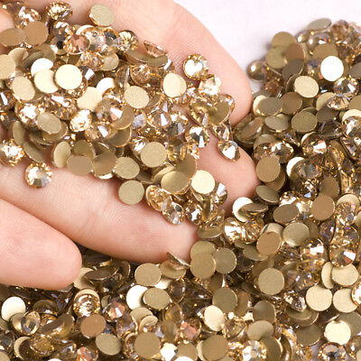 Crystal Golden Shadow Rhinestones for Nails Art Crafts Sewing Strass Stones