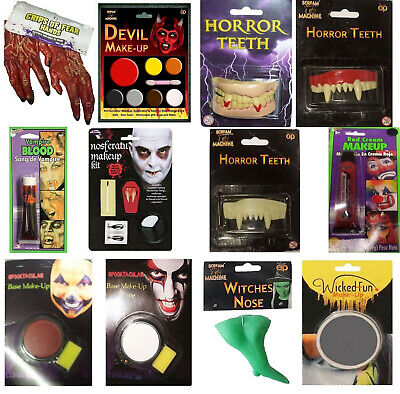 Adults Halloween Scary Items Fake Blood, Makeup Kit, Hands, Teeth, Face Paint
