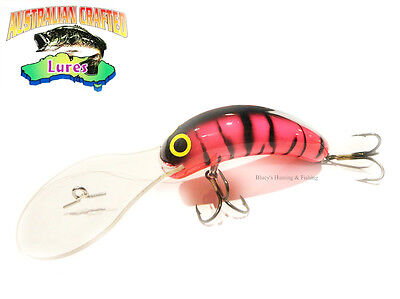 Australian Crafted Lures- cod 70mm invader pink col; 5T 30ft a.c.lures