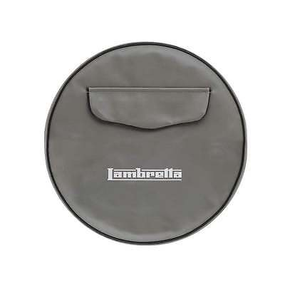 "LAMBRETTA 10"" Spare Wheel Cover Grey With Front Pocket"