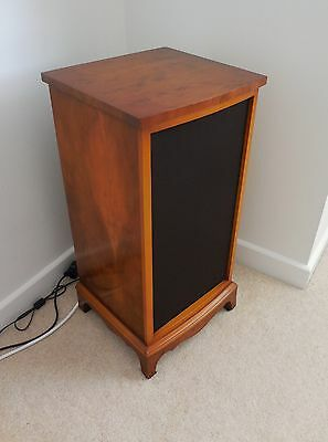 Bevan Funnell Yew Reproduction Quality Speaker Cabinets / Pair lamp Tables.