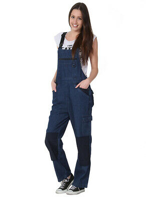 Rosies Womens Dungarees - Lightweight Denim Ladies Work Overalls Workwear