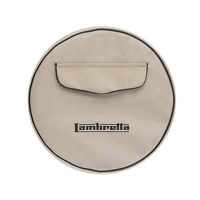 "LAMBRETTA 10"" Spare Wheel Cover Cream With Front Pocket"