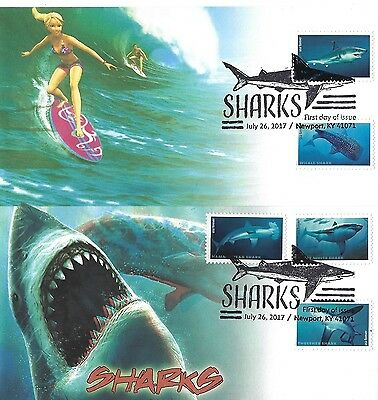 NEW 2017 SHARKS Therome Cachets 3D Set of 2 w/ 3D Glasses