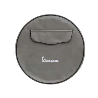 "VESPA 10"" Spare Wheel Cover Grey With Front Pocket"