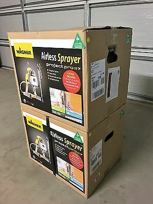Wagner Project Pro 117 Airless Spray Gun Paint New Fast Quality Hose Kit House