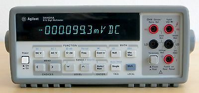 HP Agilent 34401A Digital Multimeter, 6½ Digit. Tested & Spot-on! Very clean