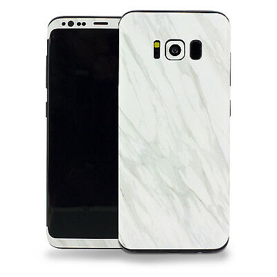 Samsung Galaxy S8 3M Vinyl Protective Skin Decal Sticker (Gray Marble Stone)