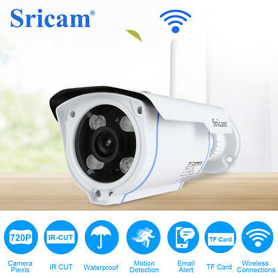 Telecamera Ip Camera Fhd 720P Wireless Ir Infrarossi Wifi Rete Esterno+8Gb Sd